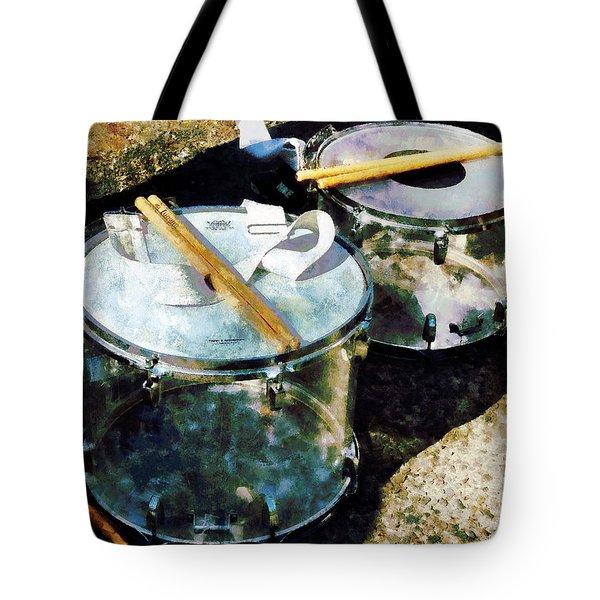 Two Snare Drums Tote Bag by Susan Savad