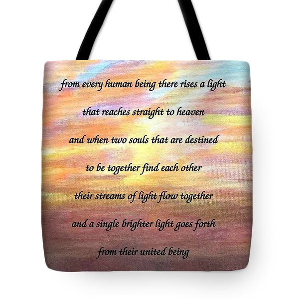 Two Souls Destined To Be Together Tote Bag