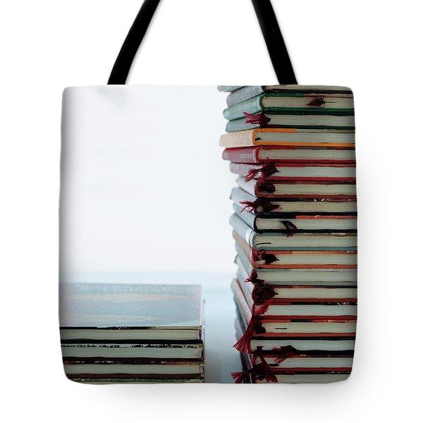Two Stacks Of Books Tote Bag