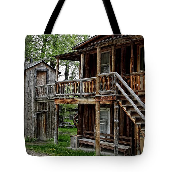 Two Story Outhouse - Nevada City Montana Tote Bag by Daniel Hagerman
