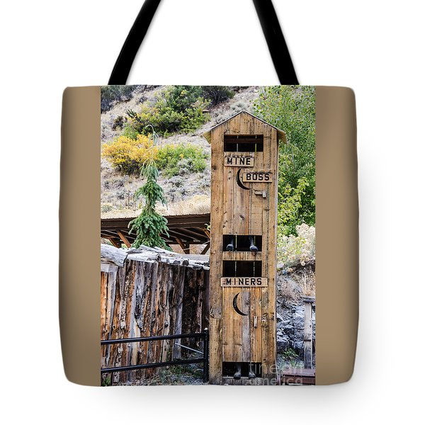 Two-story Outhouse Tote Bag