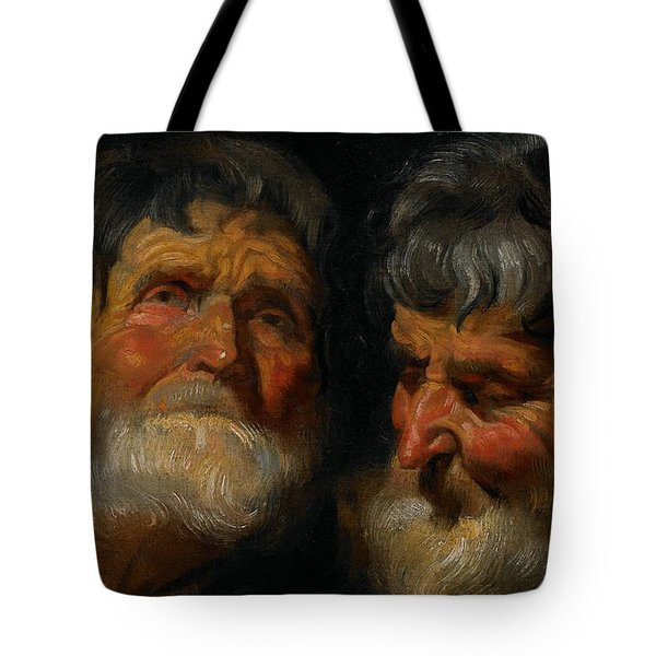 Two Studies Of The Head Of An Old Man Tote Bag