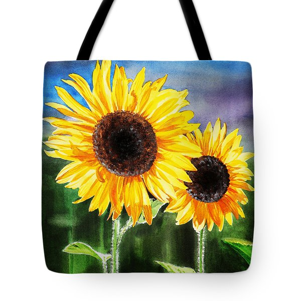 Two Suns Sunflowers Tote Bag