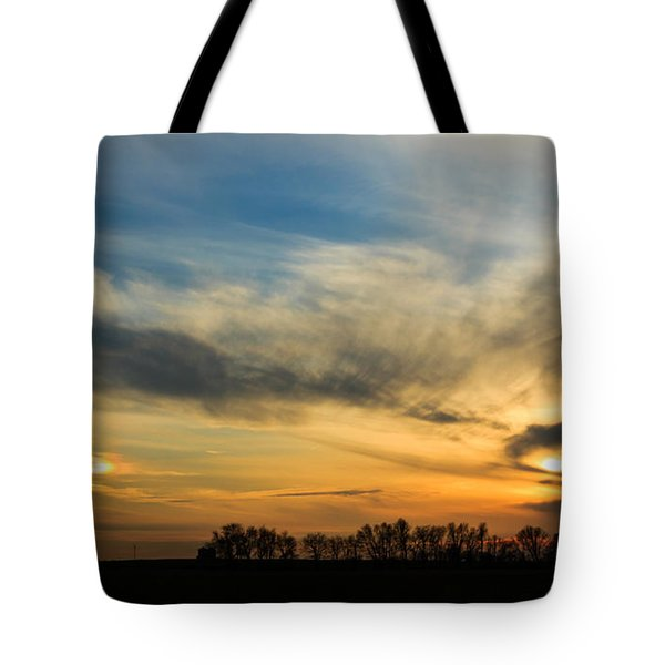 Tote Bag featuring the photograph Two Suns Over Kentucky by Peta Thames