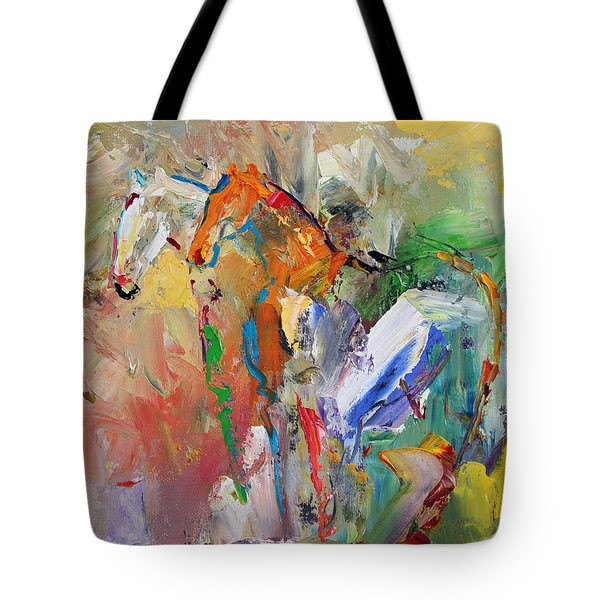Two Together Horse 29 2014 Tote Bag