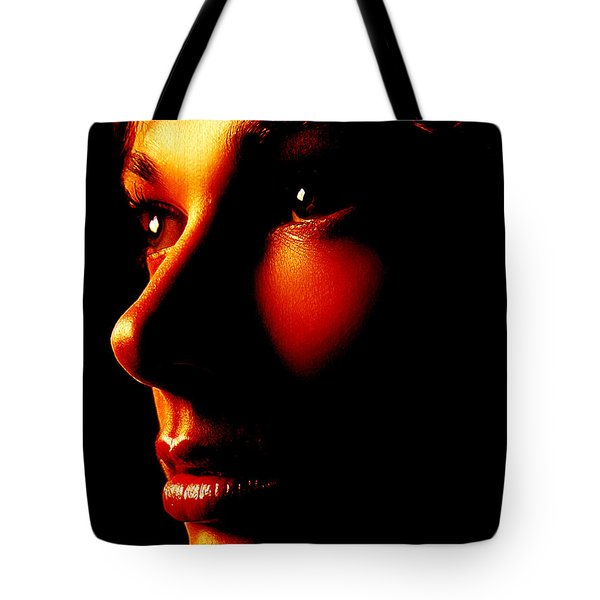 Two Tone Portrait Tote Bag