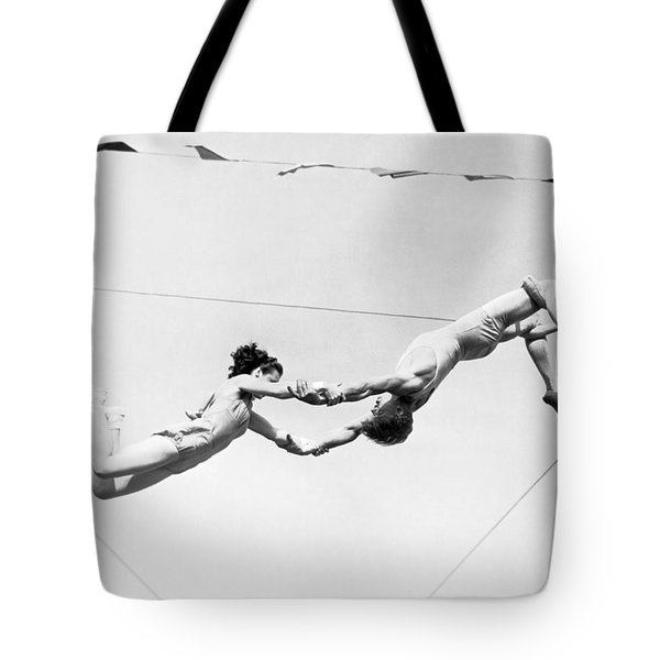 Two Trapeze Artists Tote Bag