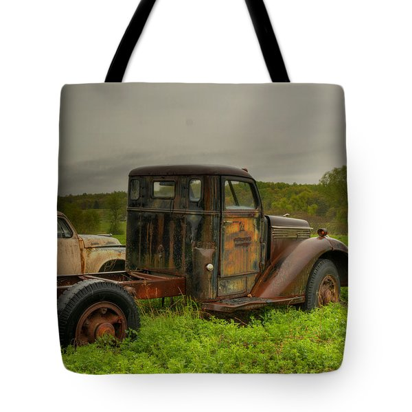 Two Trucks Tote Bag