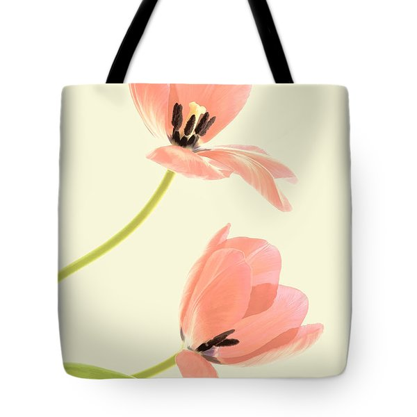Two Tulips In Pink Transparency Tote Bag