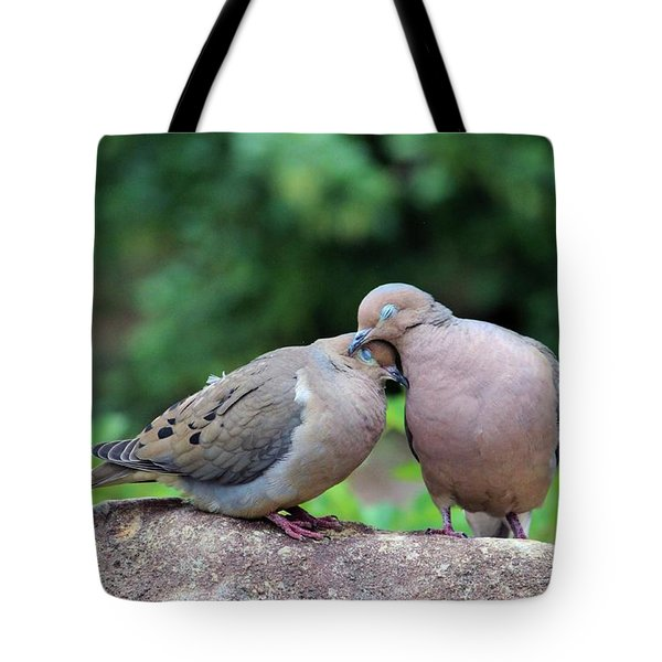 Two Turtle Doves Tote Bag by Cynthia Guinn