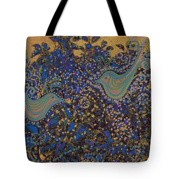 Two Turtle Doves In A Pear Tree Tote Bag