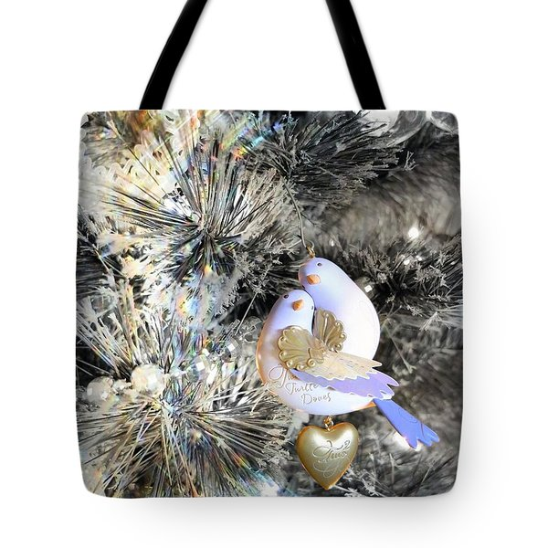 Two Turtle Doves Tote Bag by Scott Kingery