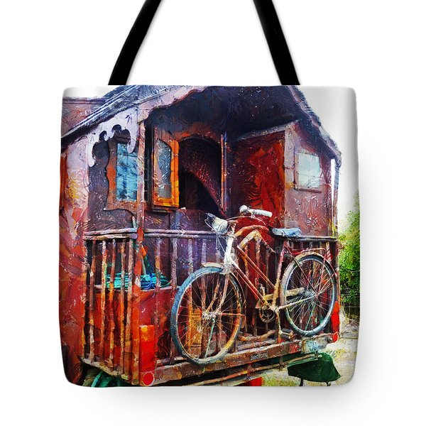 Two Wheels On My Wagon Tote Bag