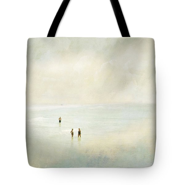 Two Women One Man Tote Bag