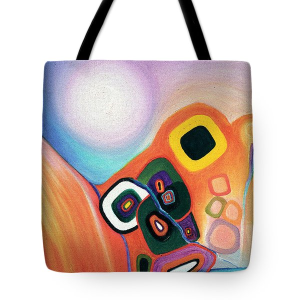Two Worlds Mandala Tote Bag