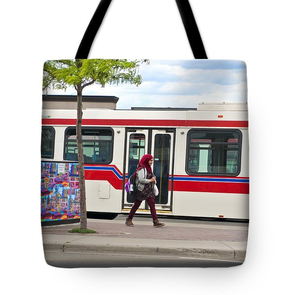 Tote Bag featuring the photograph Two Worlds by Sandi Mikuse