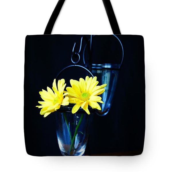 Two Yellow Daisies Tote Bag
