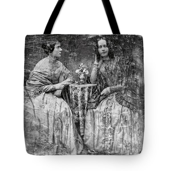 Two Young Antebellum Ladies Almost Lost To Time Tote Bag by Daniel Hagerman