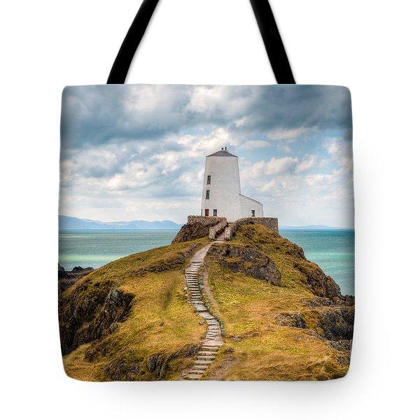 Twr Mawr Path Tote Bag by Adrian Evans