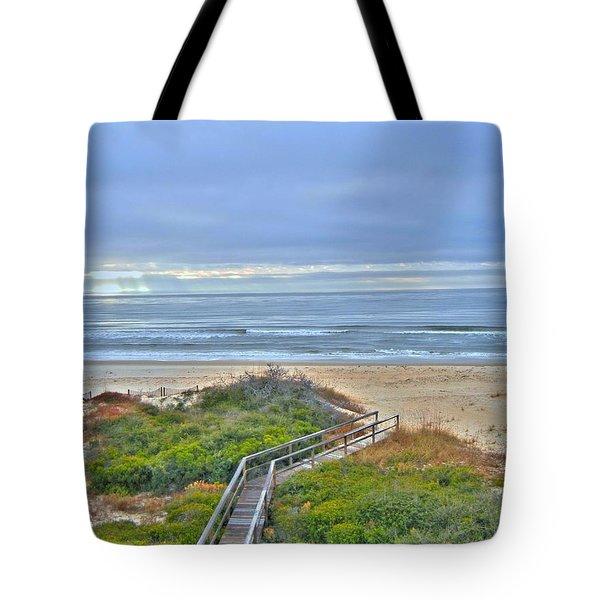 Tybee Island Beach And Boardwalk Tote Bag