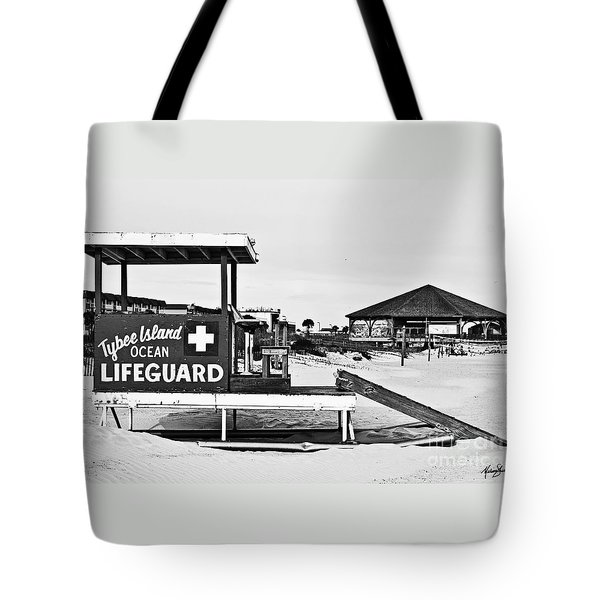 Tybee Island Lifeguard Stand Tote Bag