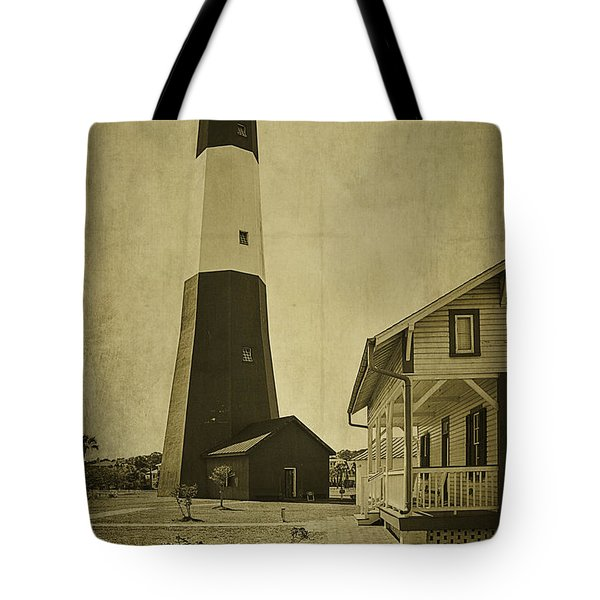 Tybee Island Light Station Tote Bag by Priscilla Burgers