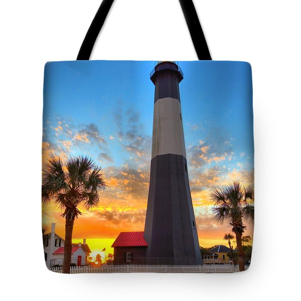 Tybee Island Sunrise Tote Bag by Gordon Elwell