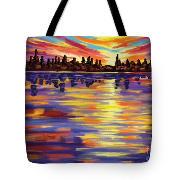 Tote Bag featuring the painting Tyler's Sunrise by Tim Gilliland
