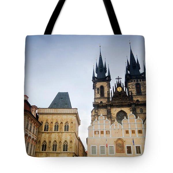 Tyn Church In Prague Tote Bag by Michal Bednarek