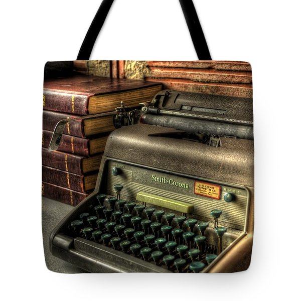 Typewriter Tote Bag by David Morefield