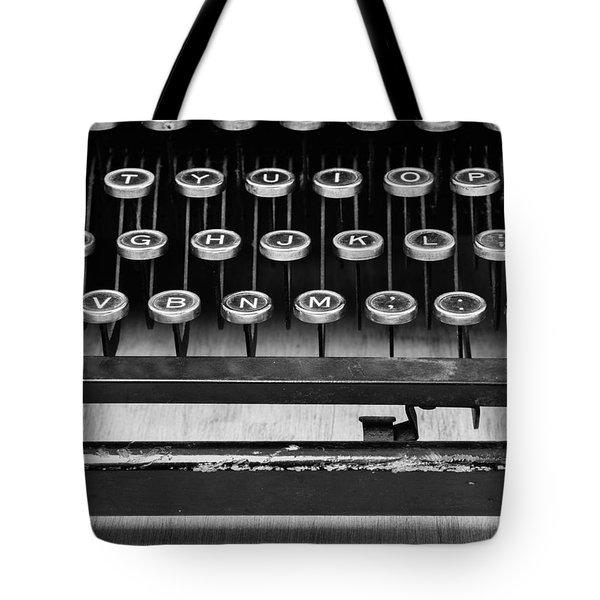 Typewriter Triptych Part 2 Tote Bag by Edward Fielding