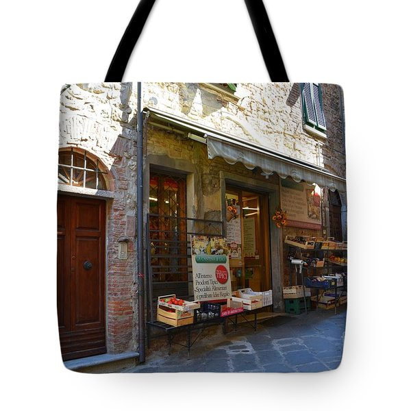 Tote Bag featuring the photograph Typical Small Shop In Tuscany by Ramona Matei
