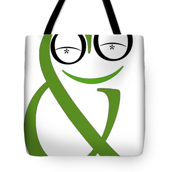 Typographical Frog Tote Bag
