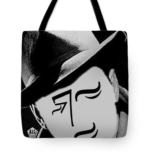 Typortraiture Humphrey Bogart Tote Bag by Seth Weaver
