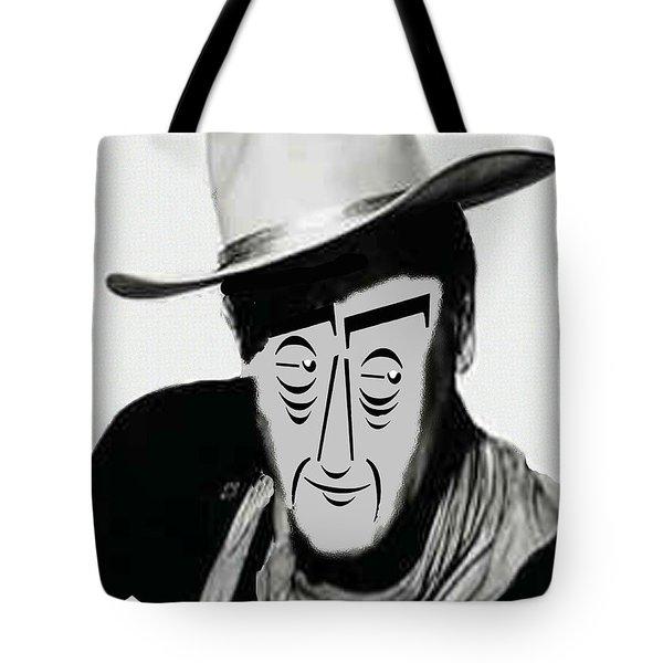 Typortraiture John Wayne Tote Bag by Seth Weaver