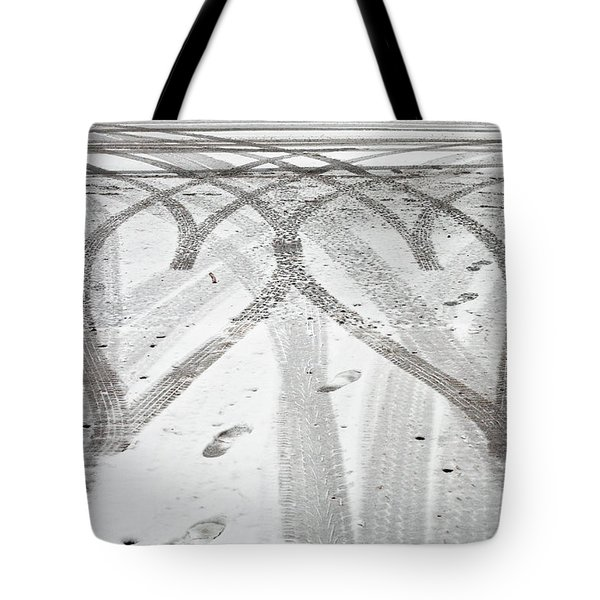 Tyre Tracks Tote Bag