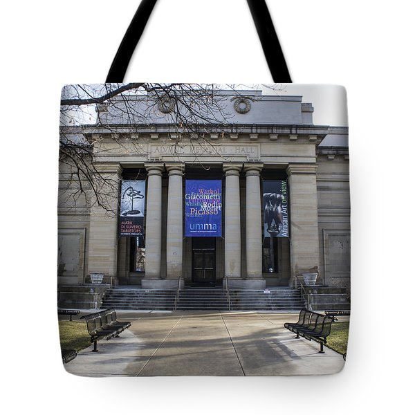 U Of M In Ann Arbor Tote Bag by John McGraw