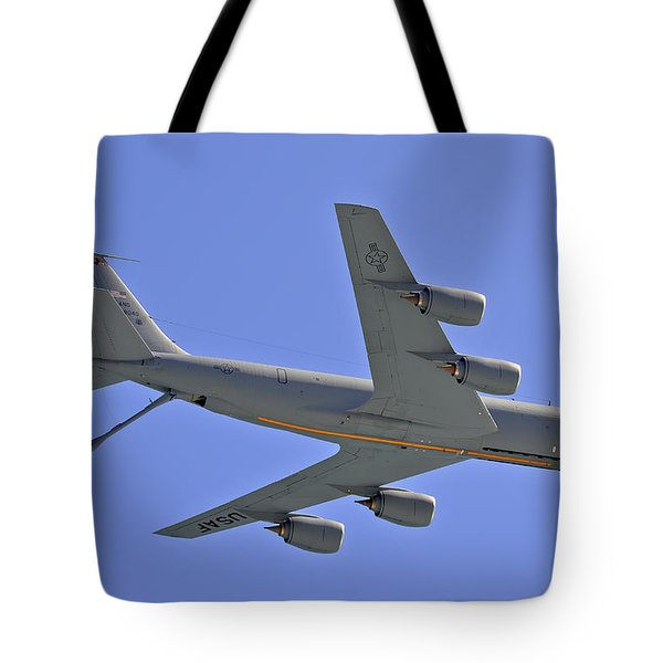 Tote Bag featuring the photograph U S Air Force Flyover by DigiArt Diaries by Vicky B Fuller