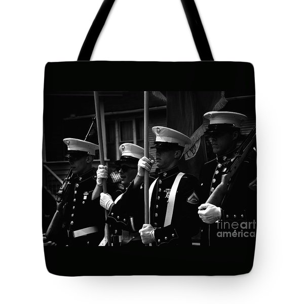 U. S. Marines - Monochrome Tote Bag