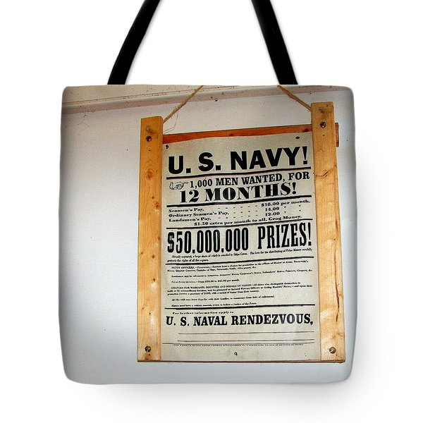 U. S. Navy Men Wanted Tote Bag