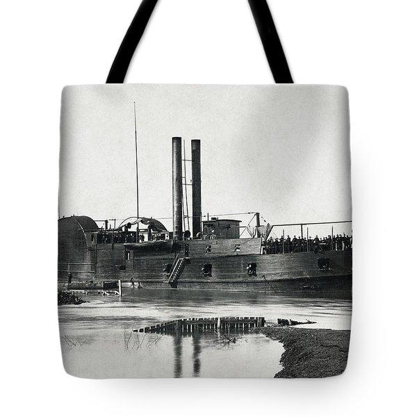 U S S Tyler Gunboat - Civil War - 1862 Tote Bag