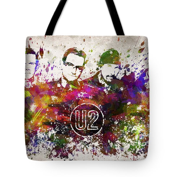 U2 In Color Tote Bag by Aged Pixel