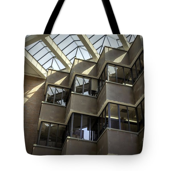 Uf Marston Science Library Accordian Window Wall Tote Bag