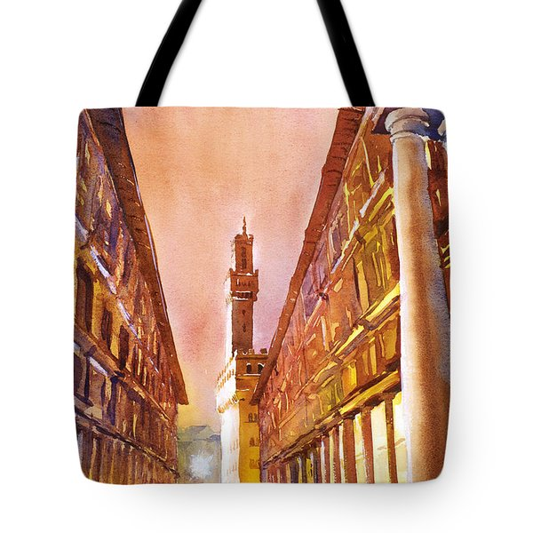 Uffizi- Florence Tote Bag by Ryan Fox