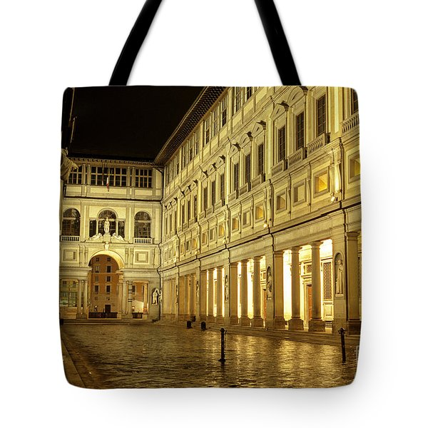 Uffizi Gallery Florence Italy Tote Bag by Ryan Fox