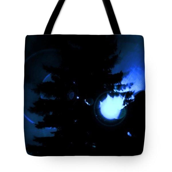 Ufo Landing Tote Bag