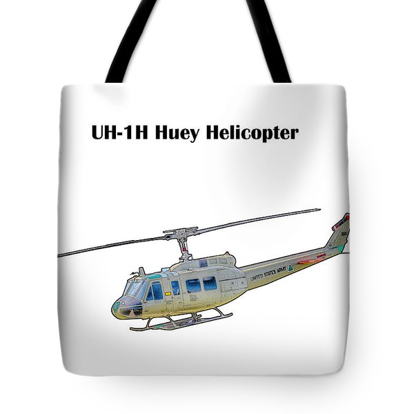 Uh-ih Huey Helicopter Tote Bag