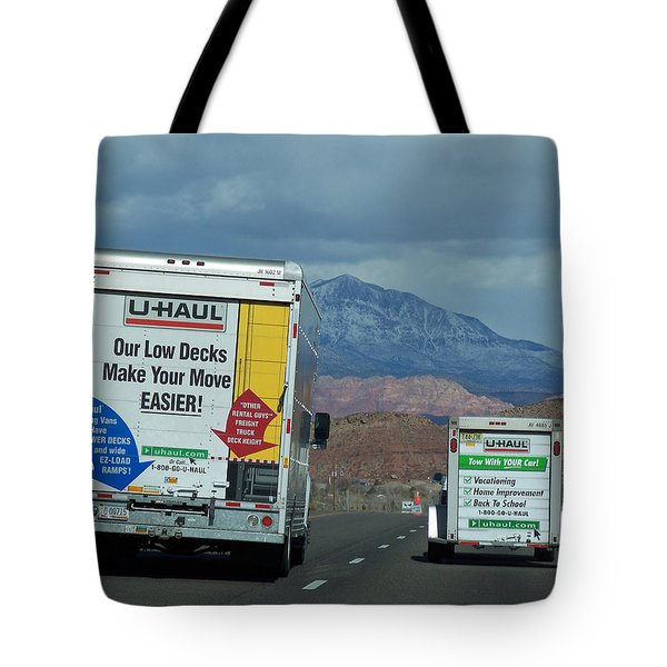 Uhaul On The Move Tote Bag by Tikvah's Hope