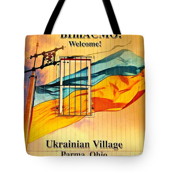 Ukrainian Village Ohio Tote Bag by Frozen in Time Fine Art Photography