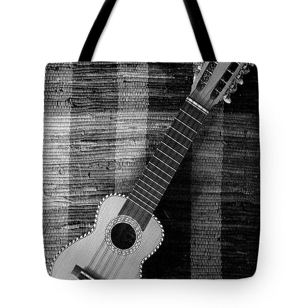 Ukulele Still Life In Black And White Tote Bag